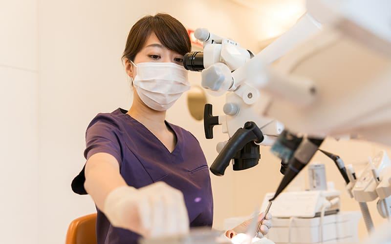 歯周病治療の模様